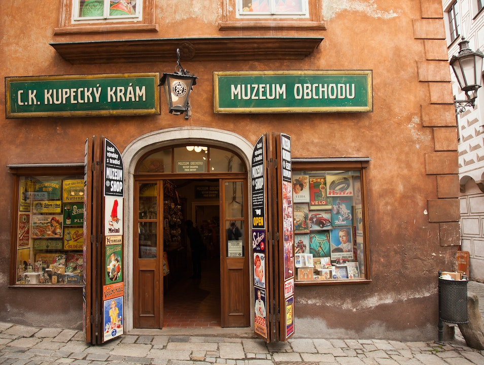 Get a glimpse of shopping life during the old empire  český Krumlov  Czechia
