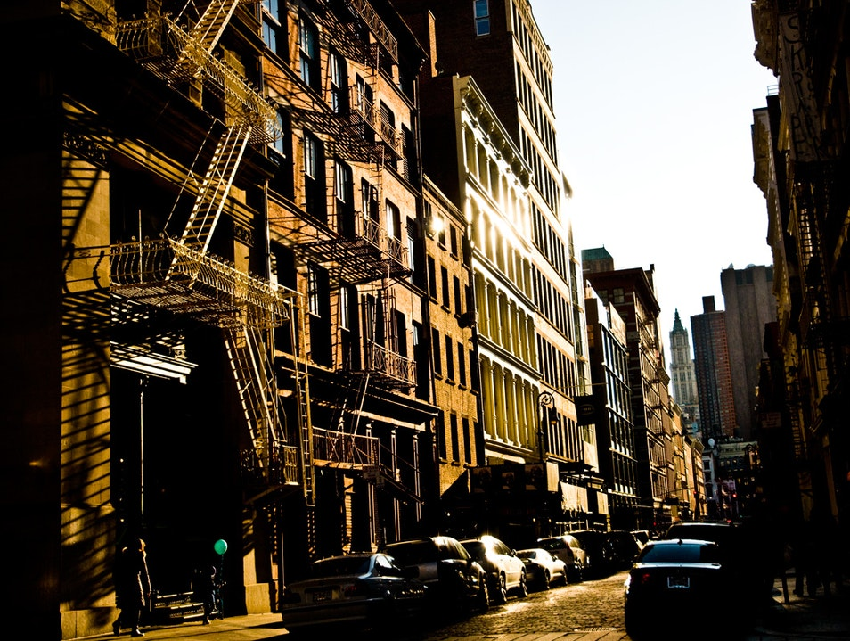 Sundown on SoHo New York New York United States