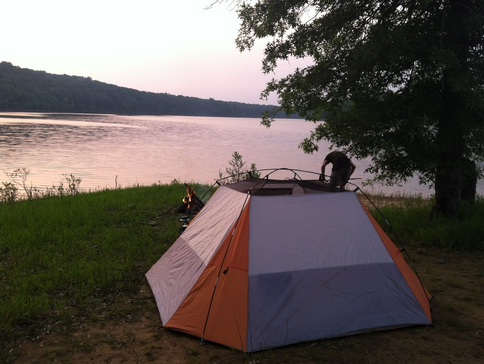 Camping by the lake Brookville Indiana United States