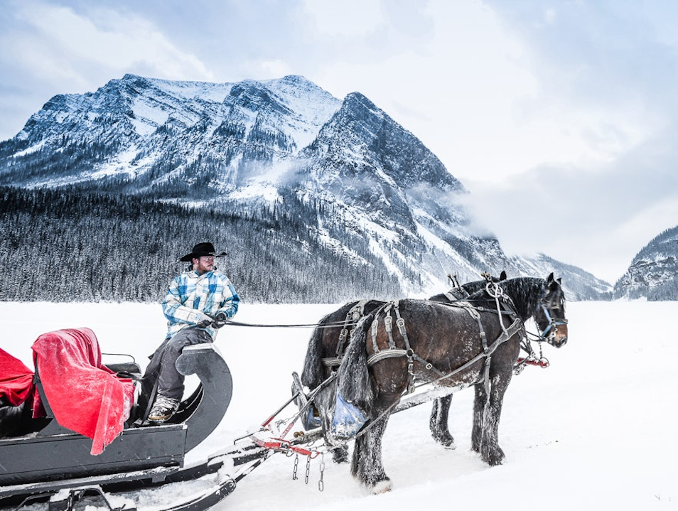 Romantic Sleigh Ride at Lake Louise   Canada