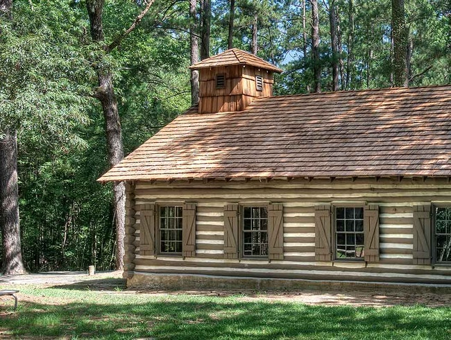 A Log Cabin Church