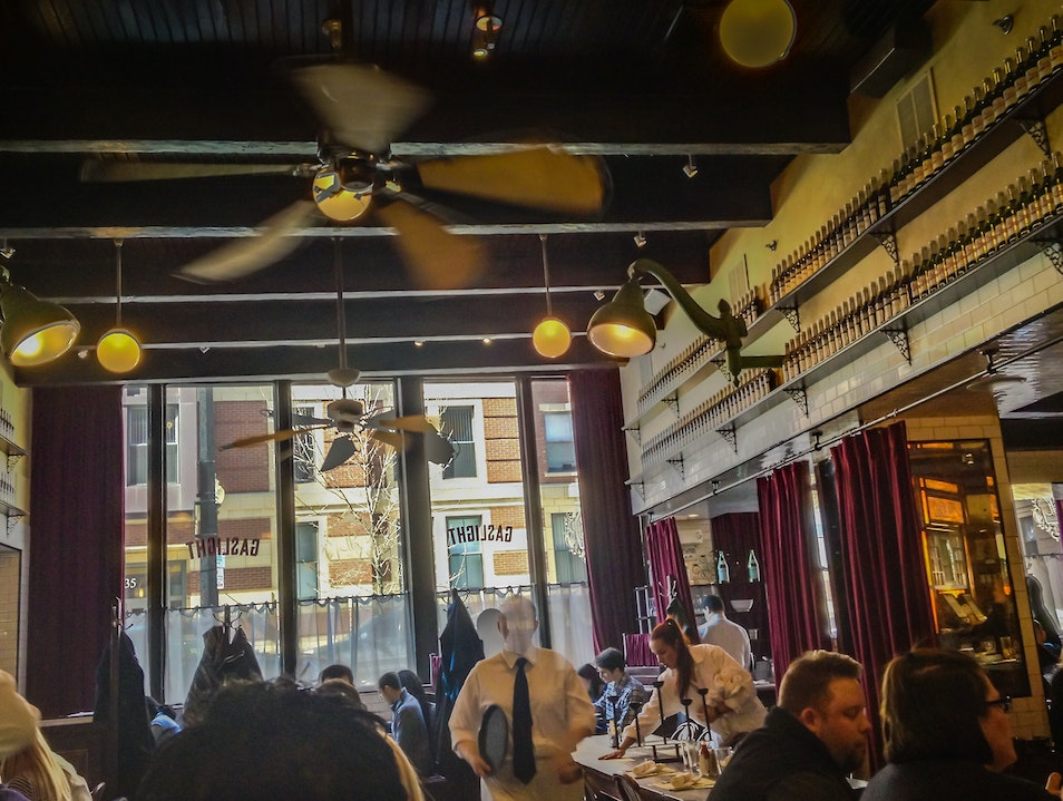 Warehouse Turned French Brasserie