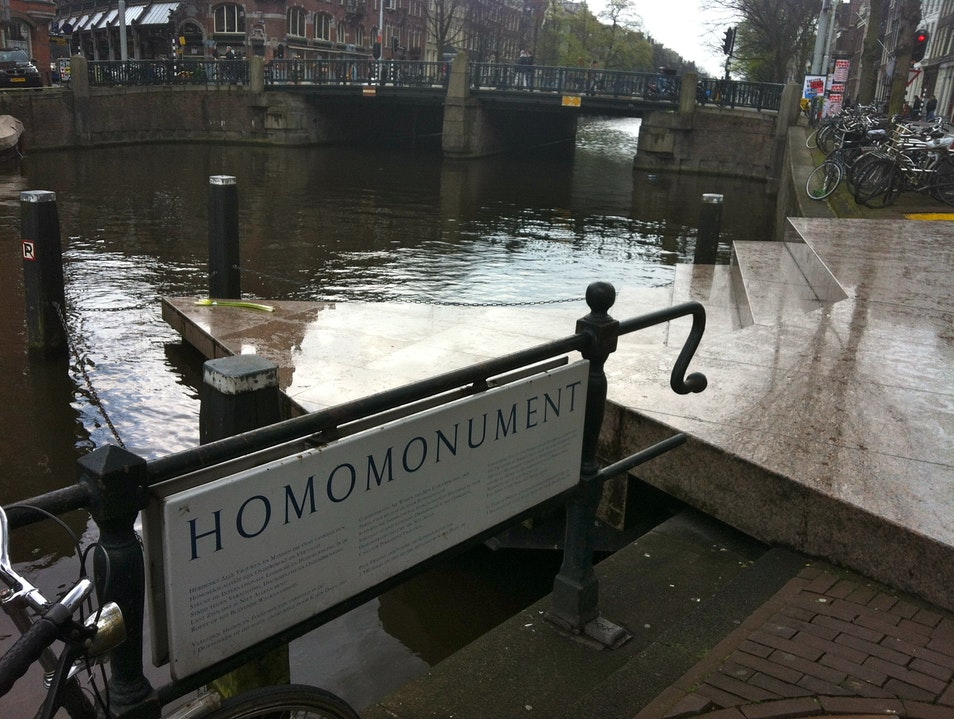 Poignant Memorial after Anne Frank Haus Amsterdam  The Netherlands
