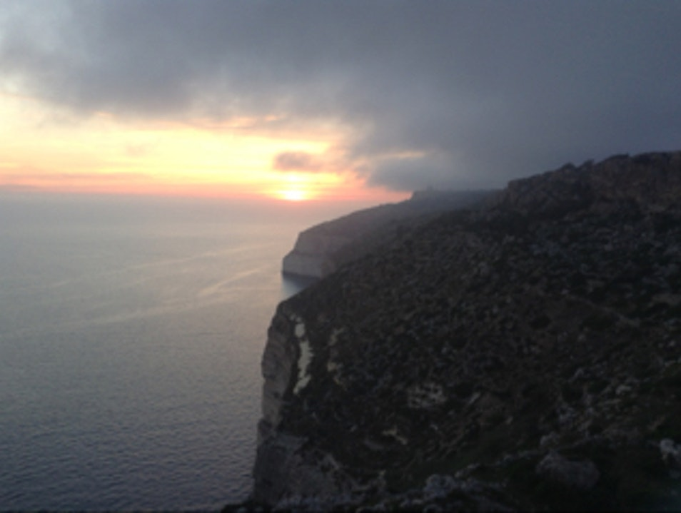 Sunset from Dingli Cliffs