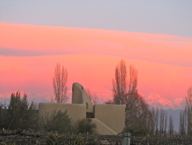Andes Sunrise viewed from Cavas' villa rooftop