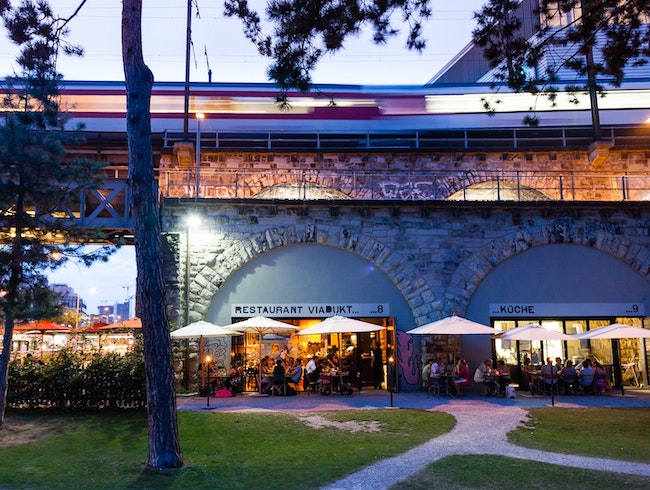 Dining Under Century-Old Stone Arches