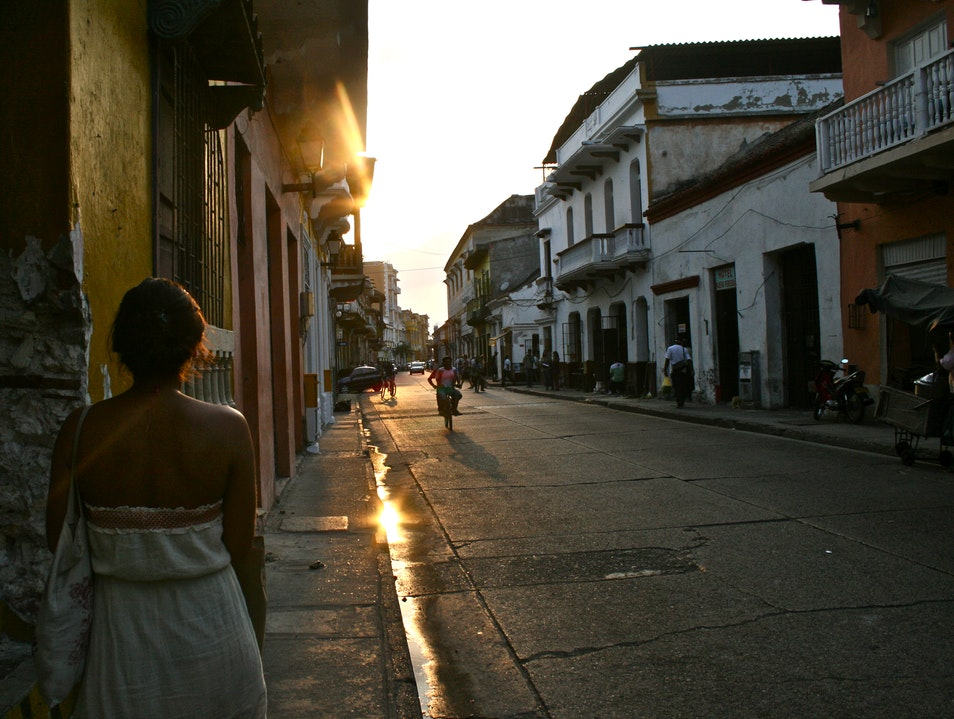Wandering the streets in Cartagena