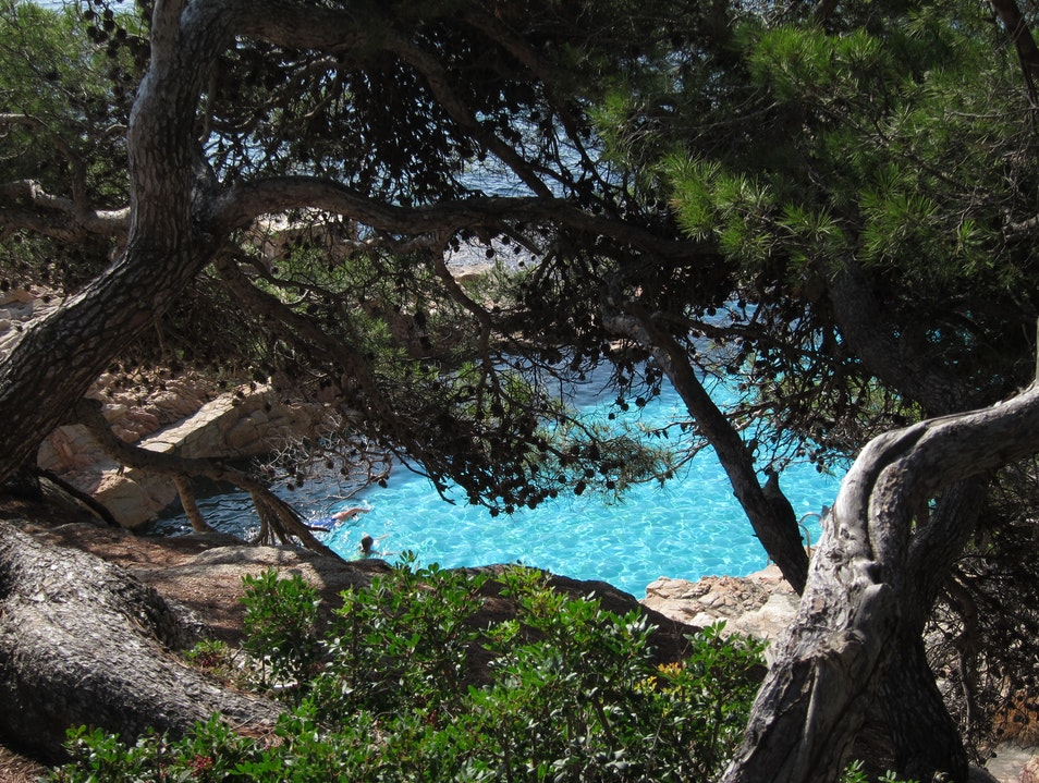 A secluded private beach