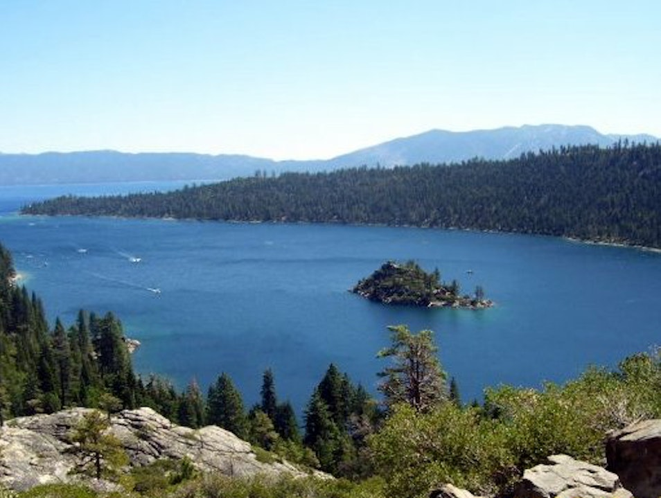 Hiking at Beautiful Emerald Bay, California