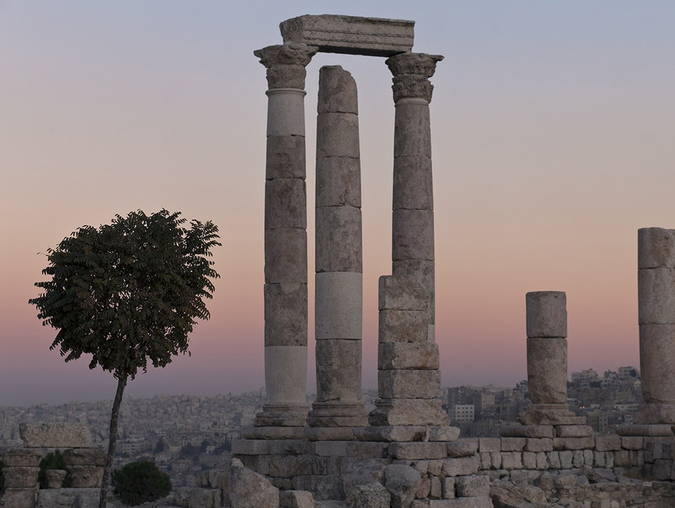Sunset at Amman's Citadel by Goldenphoto