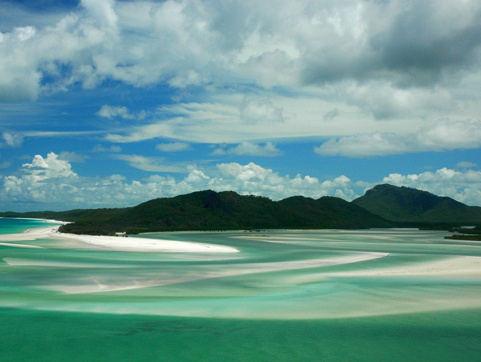 Hypnotized by the swirling sands at Whitehaven Beach