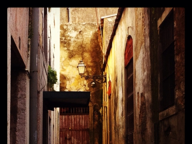 exploring the old city streets