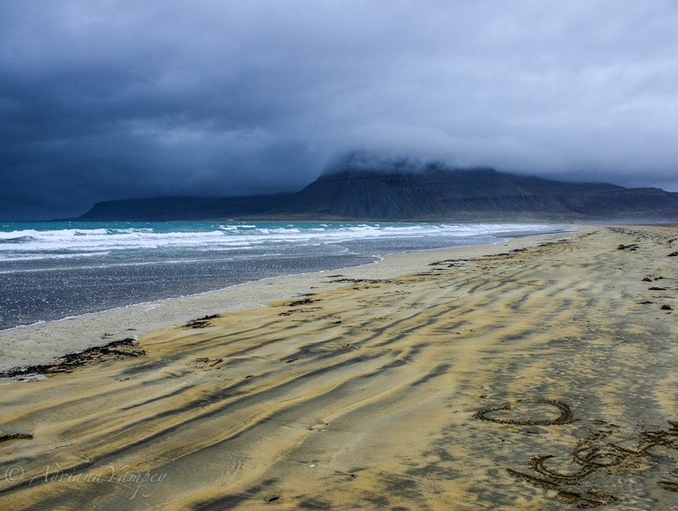 One of the best Icelandic beaches  Westfjords  Iceland