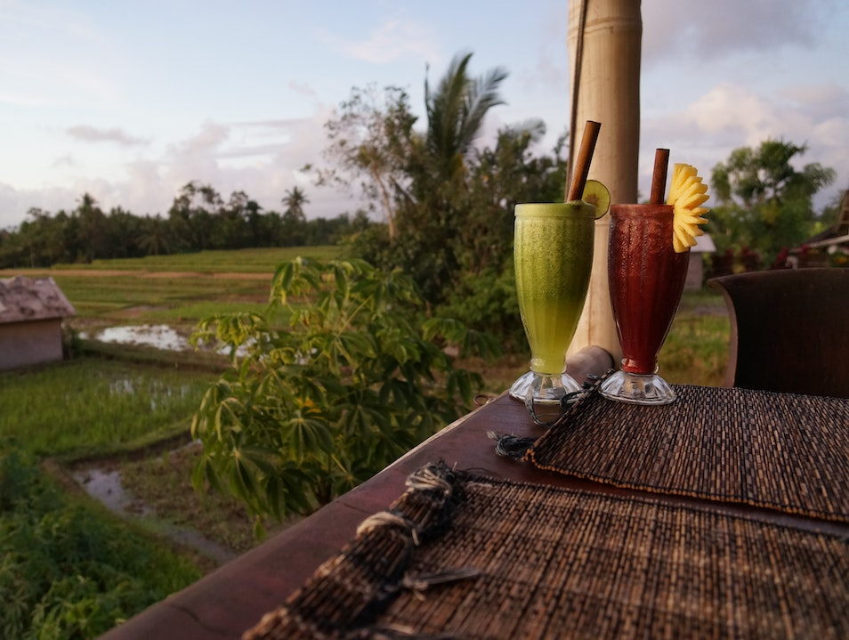 Sunset Dining at Sari Organik Ubud  Indonesia