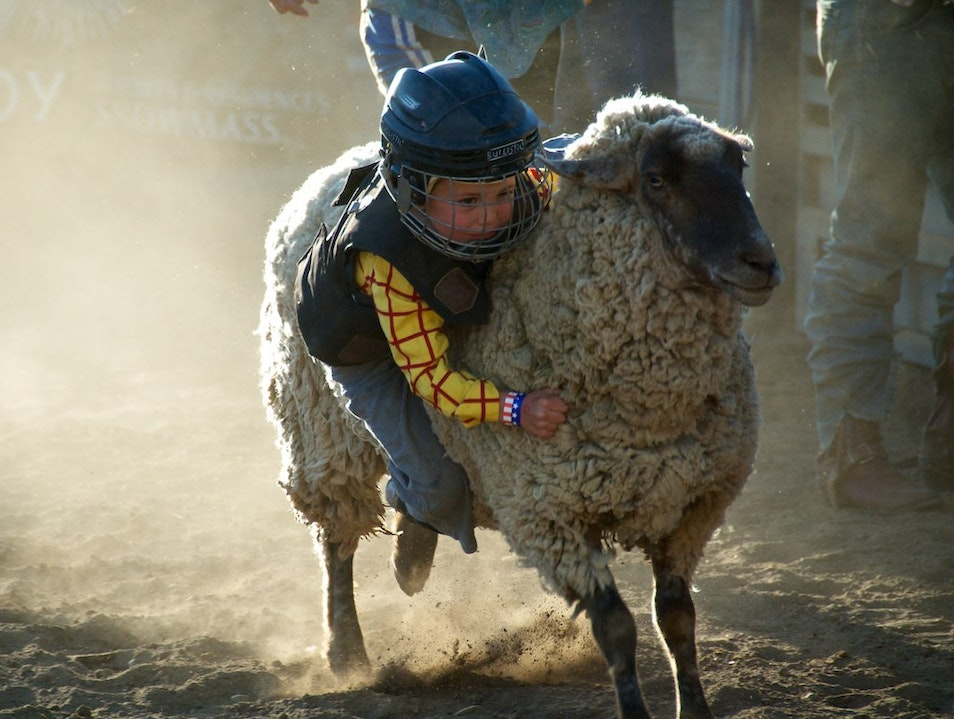 Mutton Bustin' at the Snowmass Rodeo Snowmass Colorado United States