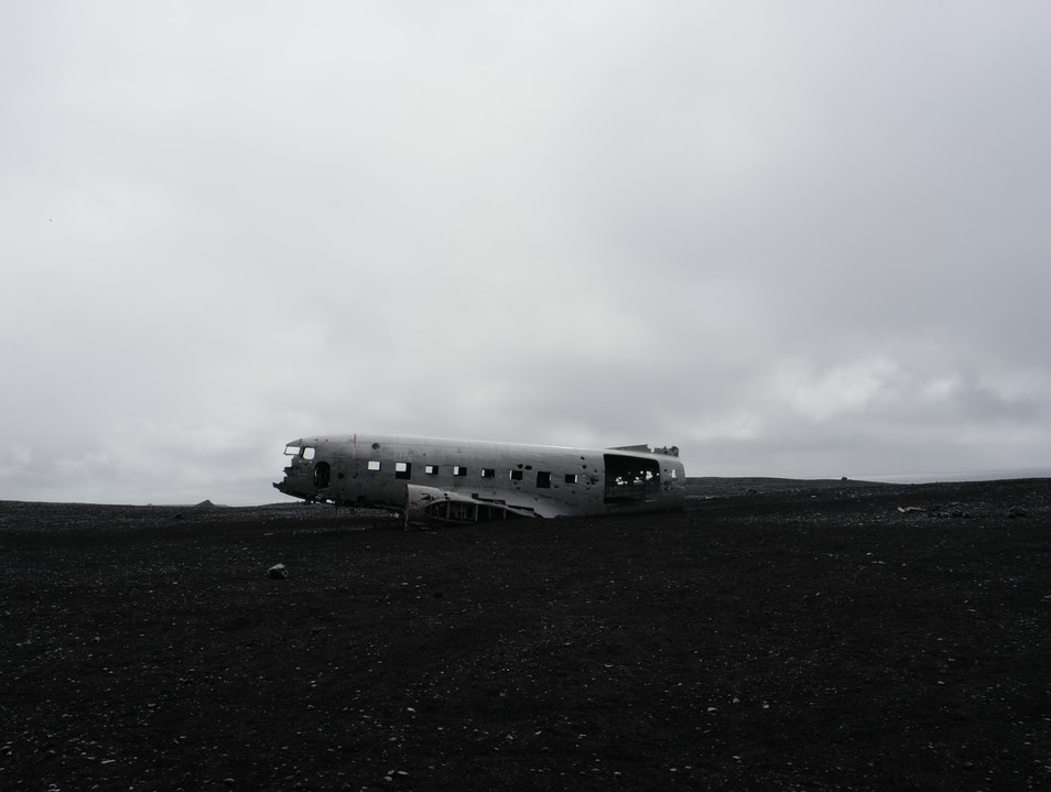 Plane Crash on Sólheimasandur Beach, Iceland South  Iceland
