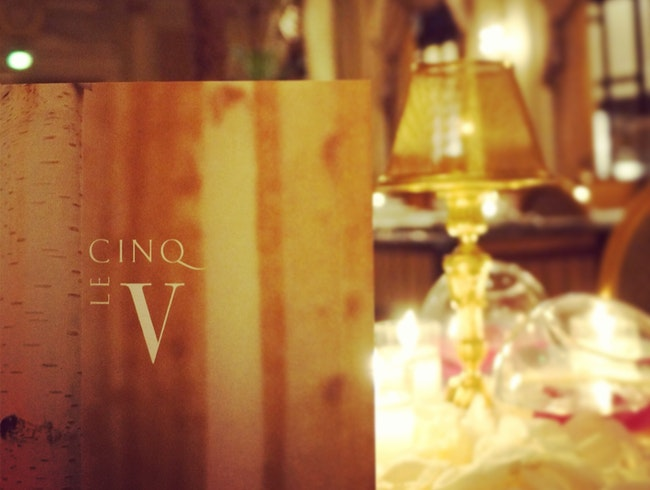 Dinner at the iconic, Le Cinq in Paris
