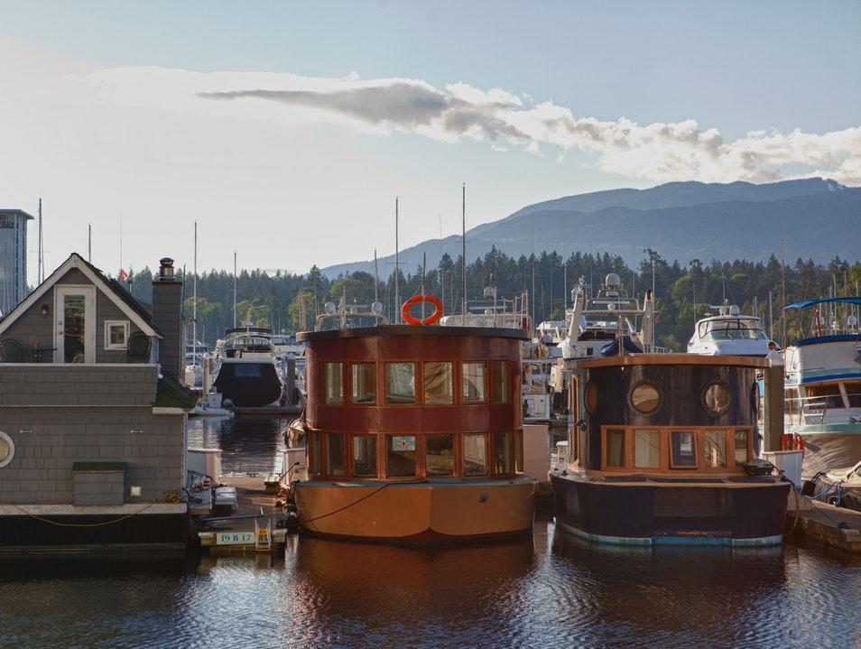 Vancouver House Boats Salt Spring Island  Canada