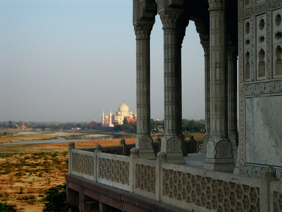 View from Agra Fort Agra  India