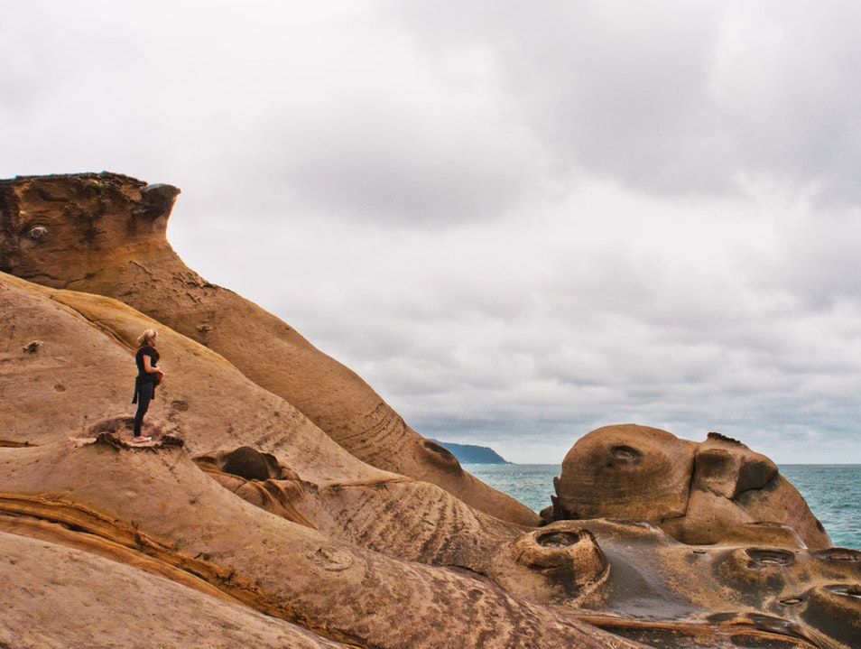 Bizarre Rock Formations in the Yehliu Geopark Wanli District  Taiwan