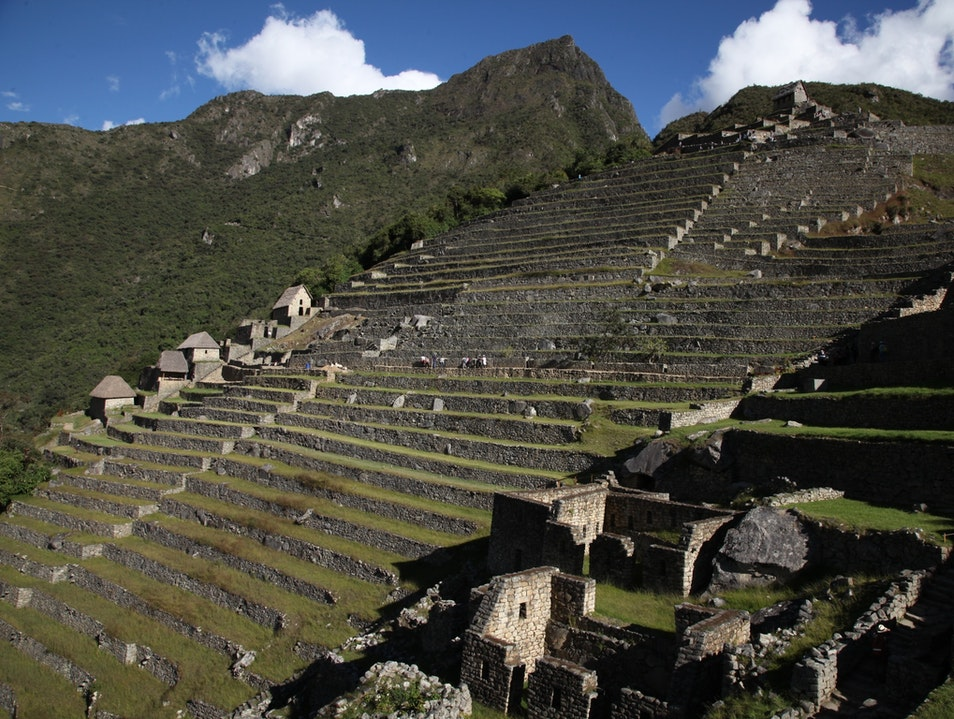 Beautiful afternoon at Macchu Picchu Santuario Historico Machu Picchu  Peru