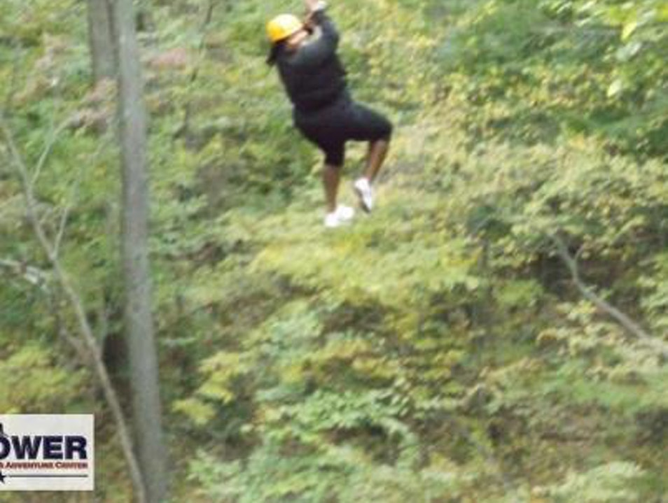 Zip-lining in Connecticut  Middletown Connecticut United States