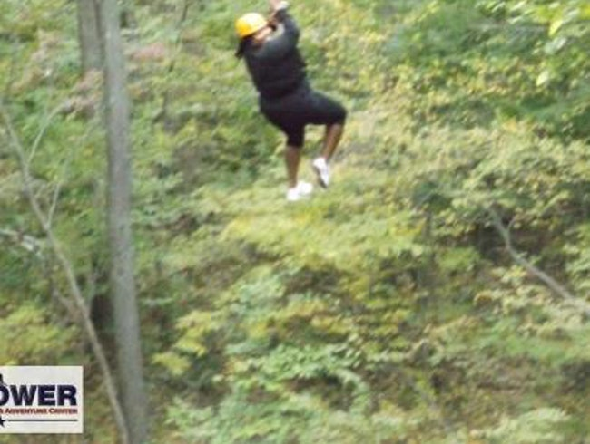 Zip-lining in Connecticut