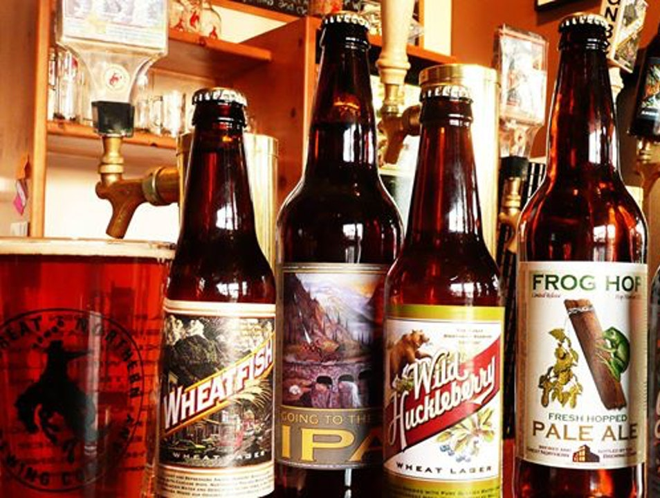 For Wild Huckleberry Wheat Lager Whitefish Montana United States