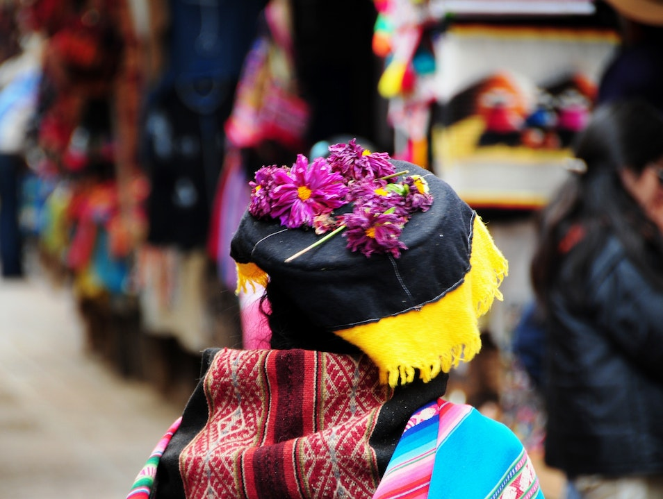 Beautiful Flowers In the Pisac Farmer's Market Pisac  Peru