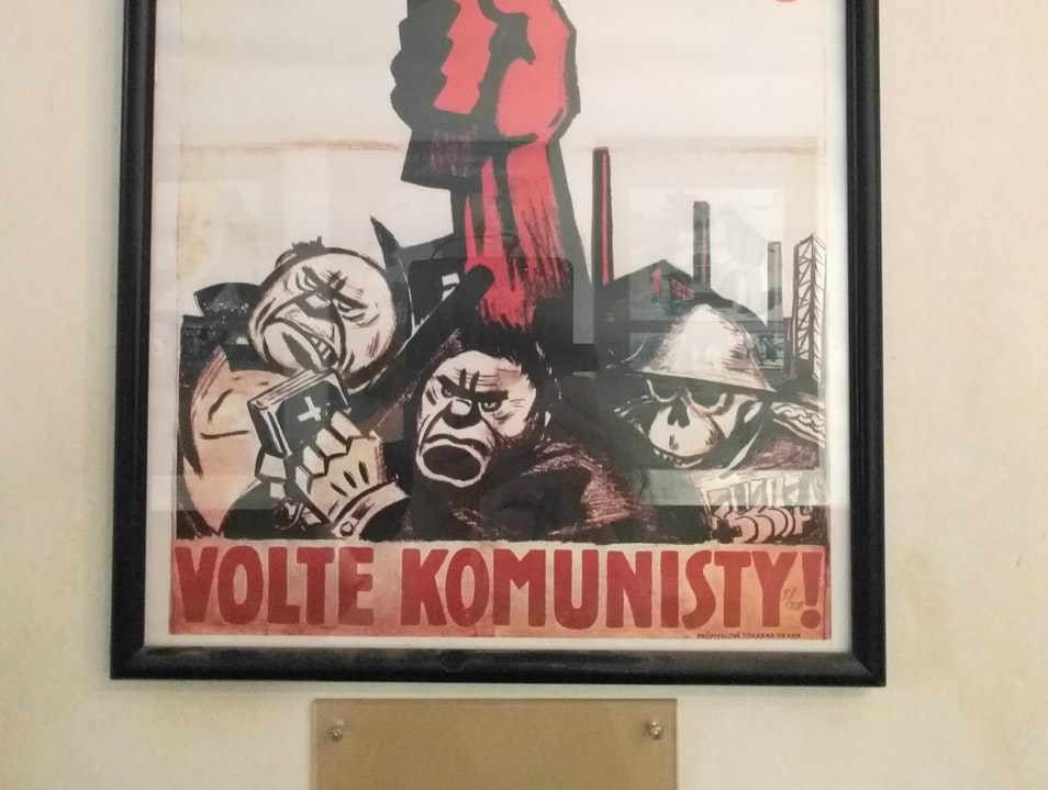 A poster in the Museum Prague  Czechia
