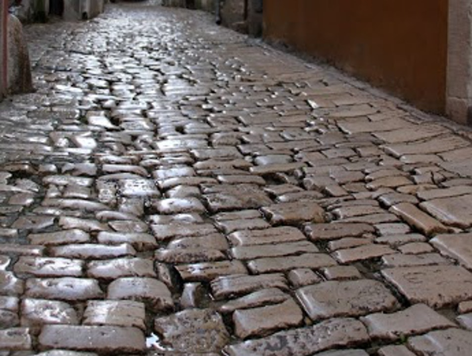 The Cobblestones of Rovinj Rovinj  Croatia