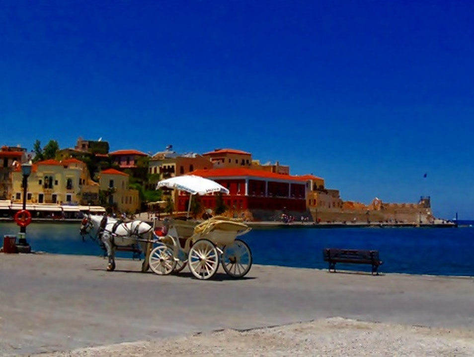 Venetian Port of Chania, Crete Chania  Greece