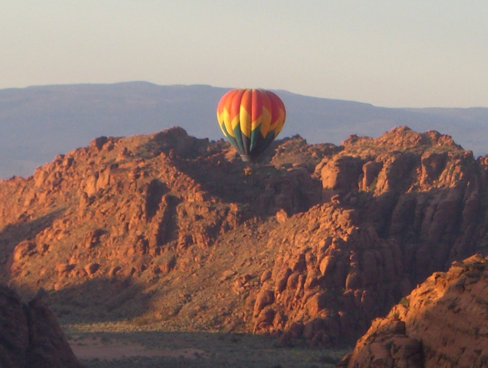 On top of the world in a balloon Ivins Utah United States