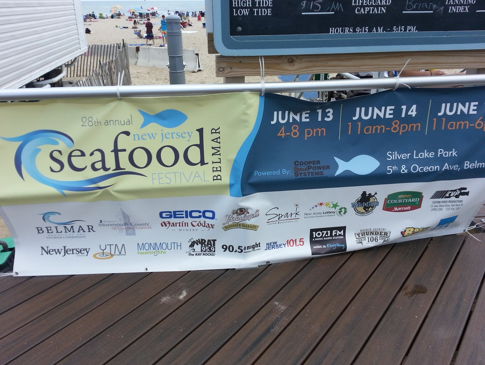The Annual Seafood Festival Belmar New Jersey United States