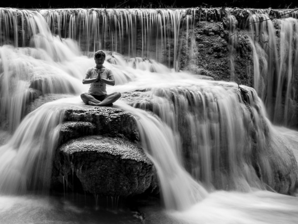 Waterfall Meditation Louangphabang  Laos