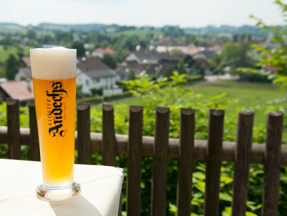 Beer in a Benedictine Monastery Andechs  Germany