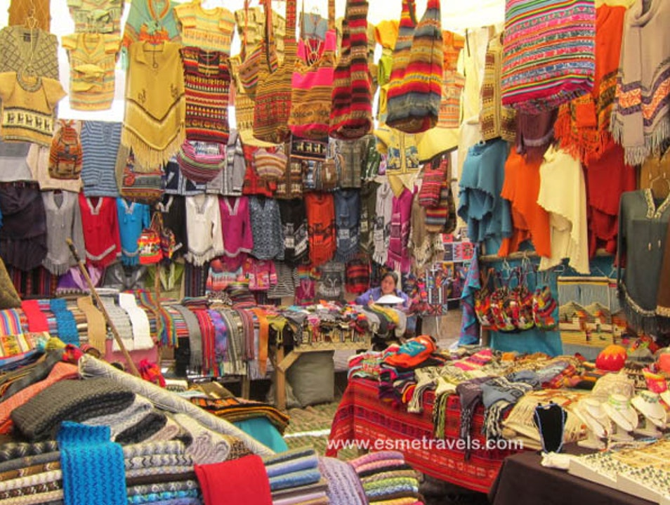 Shopping at the Pisac Market Pisac  Peru