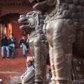 People Watching in Durbar Square Kathmandu  Nepal