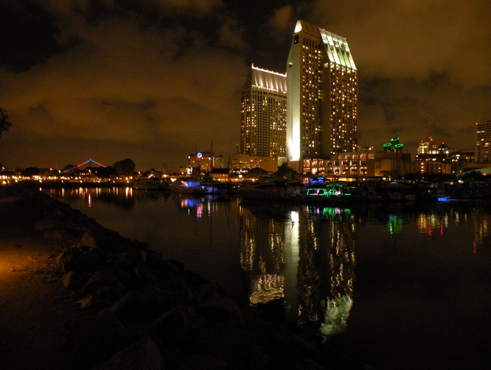 Evening Stroll in Embarcadero Park, San Diego San Diego California United States