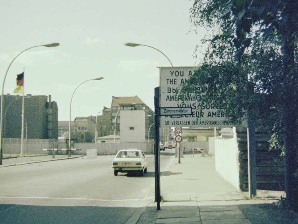 Vintage photo from the 1970s—Entering East Berlin