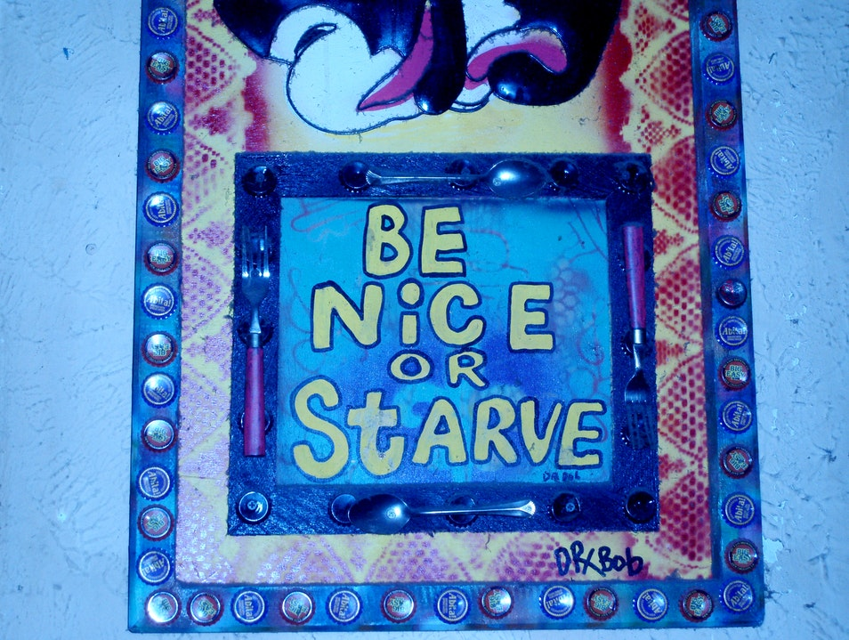 Be Nice or.... sign at Coop's Place