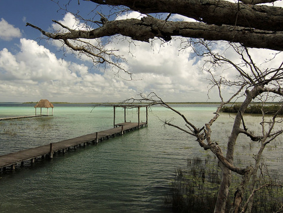 The Lake of Seven Colors Bacalar  Mexico