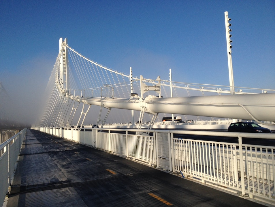 Oakland Bay Bridge Bike Path San Francisco California United States