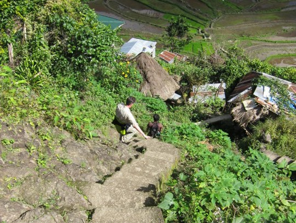 Rice terraces, hanging coffins, Batad etc. Banaue  Philippines