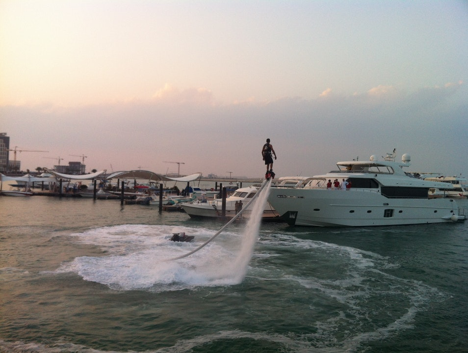 Flyboarding in Doha Lusail  Qatar