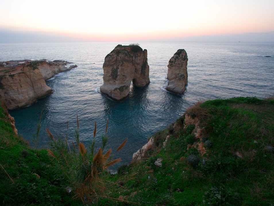 Natural Wonders in Beirut Raouche  Lebanon