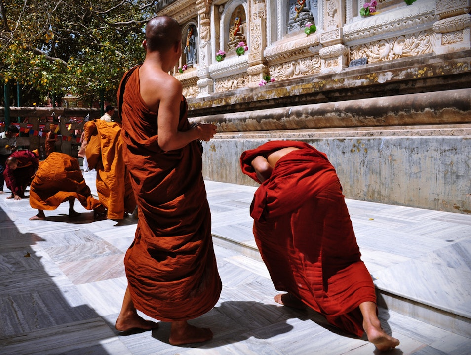 Attaining Enlightenment Bodhgaya  India