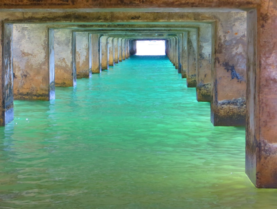 Under the Hanalei Pier Hanalei Hawaii United States