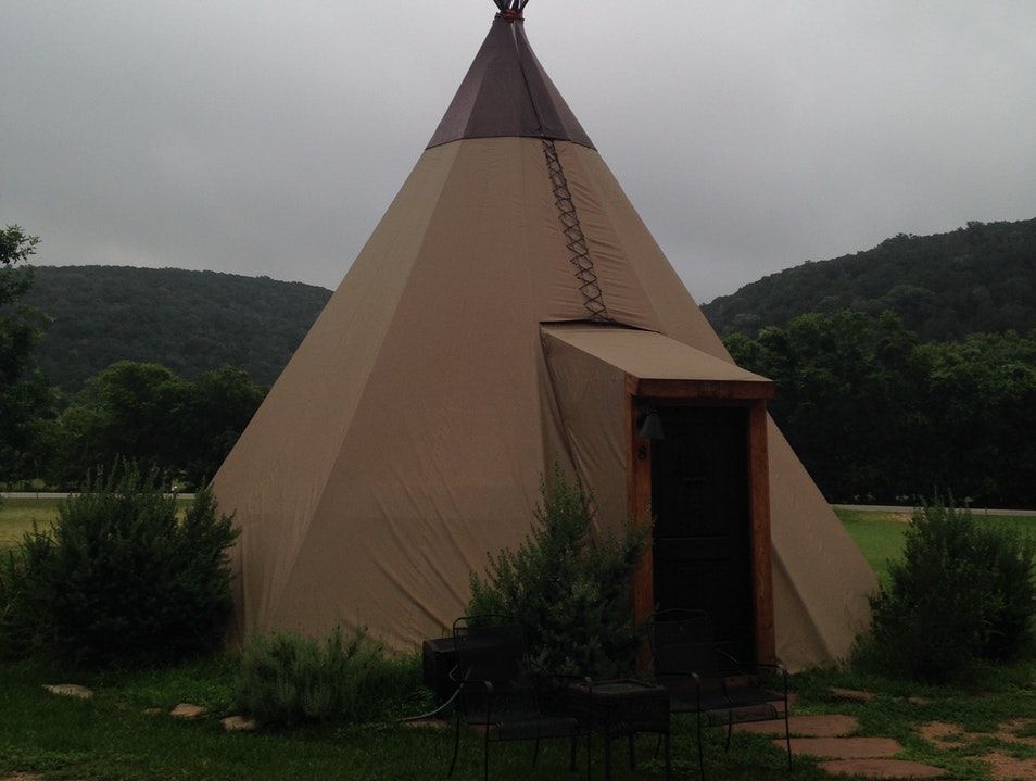 Glamping on the Guadalupe New Braunfels Texas United States