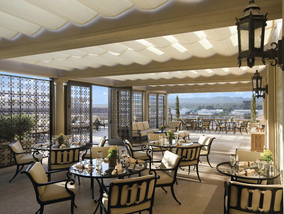 Terrace Breakfast at the Montage Beverly Hills California United States